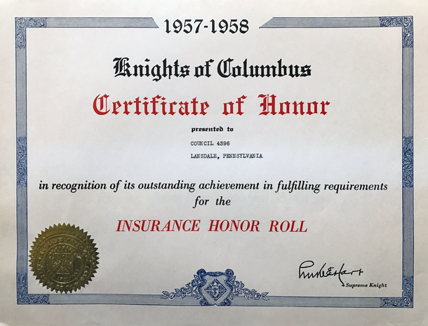 1957 Insurance Honor Roll
