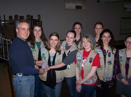 Knights in support of the Girl Scouts a