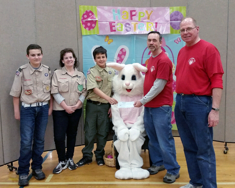 Scouts & Bunny 032017